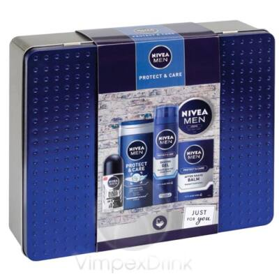 Nivea Men Protect&Care fémdoboz aj.csom. tusf.+roll-on+krém+borotvagél+after shave